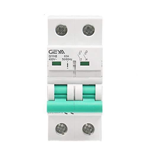 LUOXUEFEI Disyuntor Diferencial Interruptor Interruptor Principal De 2 Polos Interruptor De Función Disyuntor Disyuntor De 400 Vca