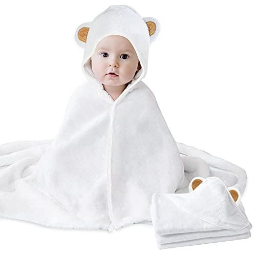 HyAdierTech Baby Toalla con Capucha, Toalla de Baño Bebé, Capa de Baño Bebé Infantil, Toalla...
