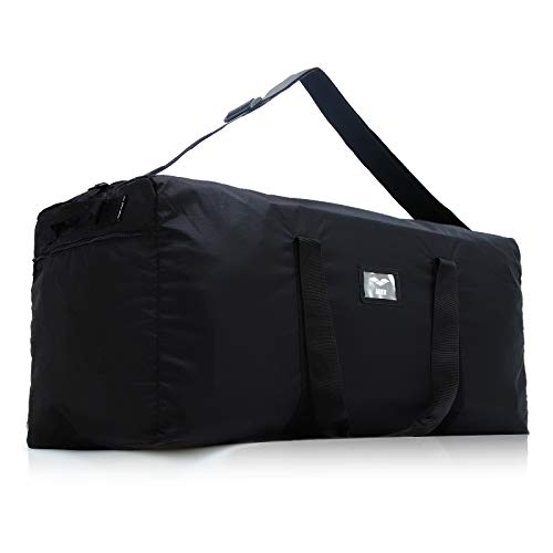 MIER Heavy Duty Cargo Duffel Bag Lightweight Foldable Sports Gear Equipment Travel Bag Rooftop Rack Bag, Black, 140L