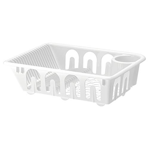 Dish Drainer, White, Assembled Size: Length: 46 cm Width: 36 cm Height: 12 cm