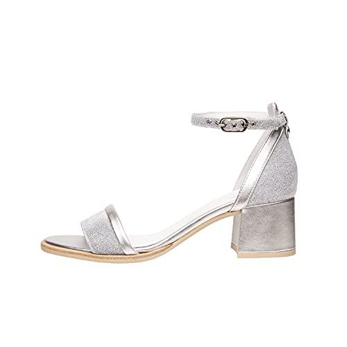 Sandalo da Donna NeroGiardini in Pelle Ghiaccio E012260D. Scarpa dal Design Raffinato. Collezione Primavera Estate 2020. EU 37