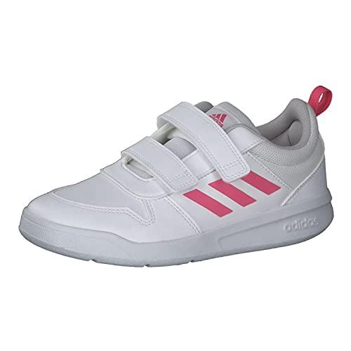 adidas TENSAUR C, Scarpe da Corsa, Ftwr White/Real Pink/Ftwr White, 36 EU