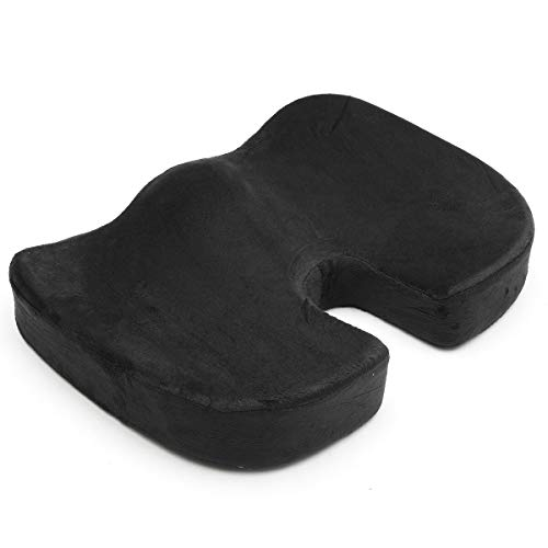 XIXV Office Chair Seat Cushion Car Seat Pillow Tailbone Memory Foam Diffuse Support Cushion cover