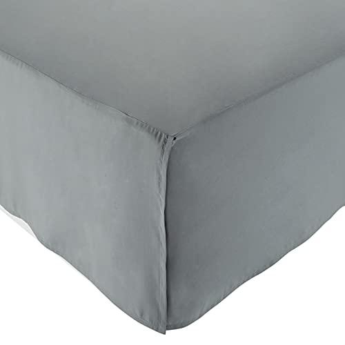 Amazon Basics Pleated Bed Skirt - Full, Dark Grey