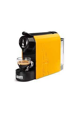 Bialetti Gioia, Machine à café expresso pour capsules en aluminium, système Bialetti le café d'Italie, super compacte, Ocra