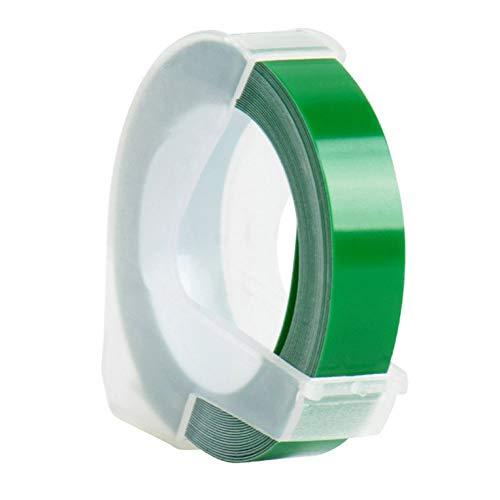 Cinta de etiquetas manual 3D, cinta adhesiva de impresión en relieve, apta para máquina de etiquetas de impresora MOTEX