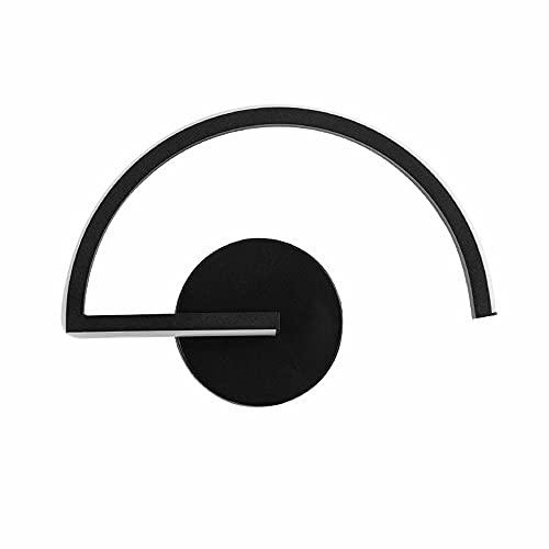 ZNLHJ Lámpara de Pared Simple Moderna nórdica, diseño Creativo de Arte de Personalidad Simple Moderno, Dos Colores en Blanco y Negro, Accesorio de iluminación Interior, cabecera, decoración de Sala
