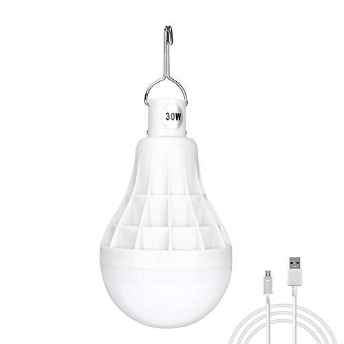 30W LED Luz De La Noche Regulable Bombilla De Emergencia Portátil USB Recargable Carpa Luz Colgante con Gancho para Acampar Al Aire Libre Barbacoa Pesca