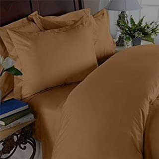 Elegant Comfort 1500 Thread Count Egyptian Quality Super Soft Wrinkle Free and Wrinkle Resistant 3-Piece Sheet Set, Twin/Twin X-Large, Mocha Chocolate