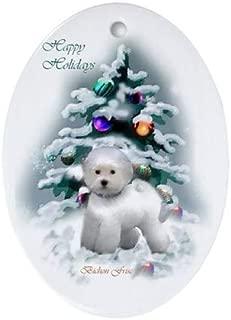 Yilooom Bichon Frise Christmas Oval 3