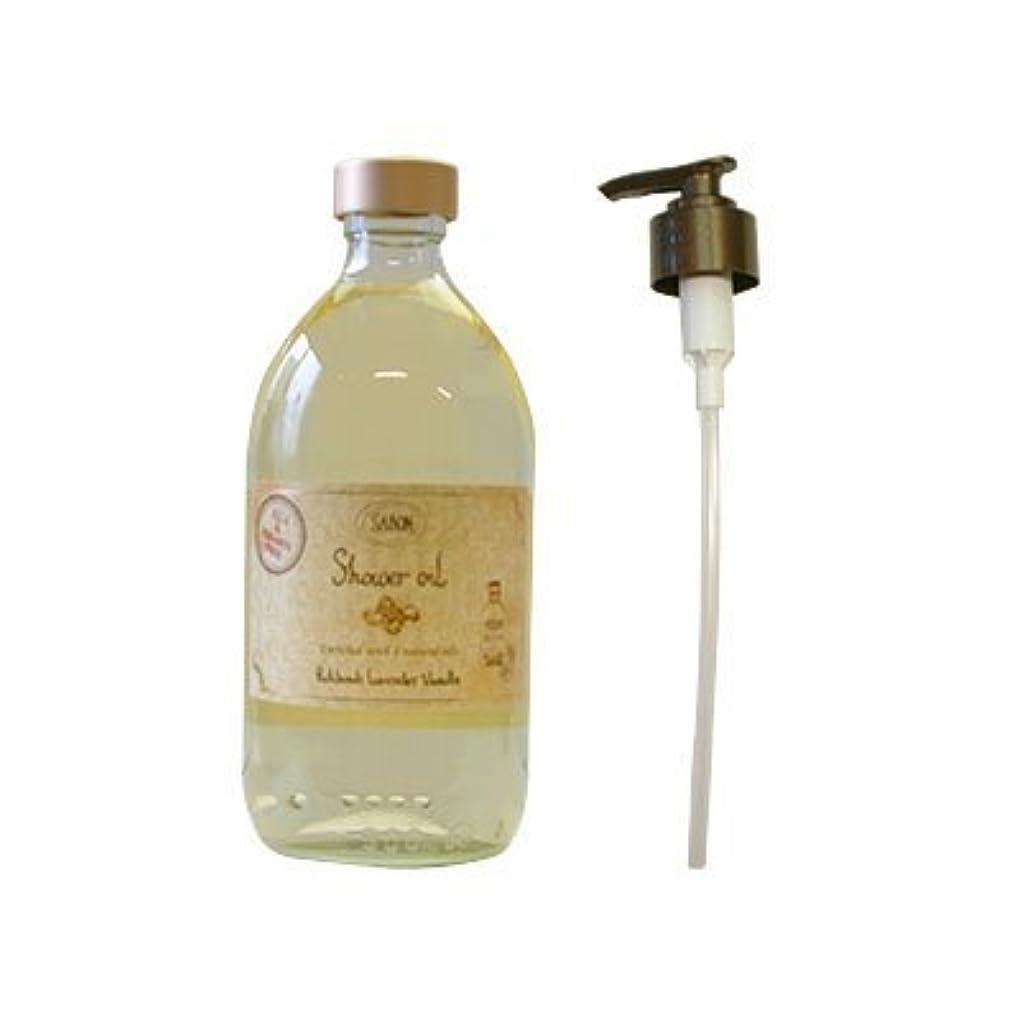 解明する上へトロリーサボン(SABON) シャワーオイル パチュリラベンダーバニラ 500ml[並行輸入品]