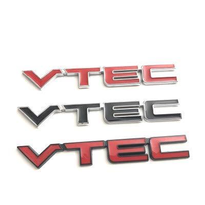 Emblema De Repuesto 20x Red VTEC Metal Zinc Aleación de Aleación de Aleación de Coche Reembolsado Emblema Fender / Tail Badge Pegatina Compatible con Honda Civic Accord Odyssey Spirior Placa de nombre