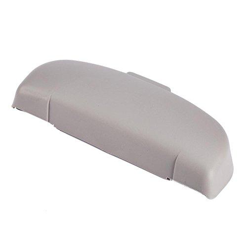 1X Gris universal, Funda de gafas de sol universal para coche Keenso- Soporte universal para gafas delanteras para coche Caja de almacenamiento de gafas