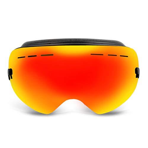Gafas de esquí de doble cubierta para snowbord y antiempañamiento fuerte para deportes al aire libre