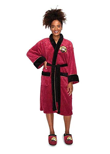 Groovy Harry Potter Ladies Fleece Bathrobe Kawaii Hermione
