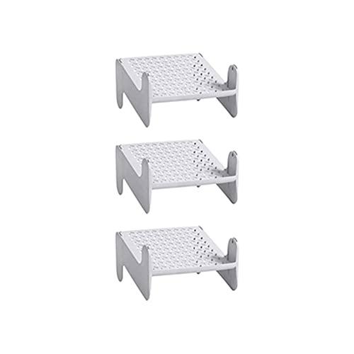 LYLY Zapatero de plástico de 3 piezas para el hogar, apilable, ahorro de espacio, para entrada, pasillo, armario zapatero (color: D)