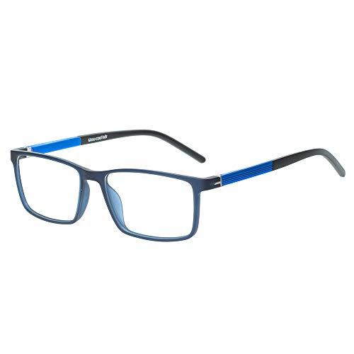 Kinder Kids Brille Teenager Gestell Fassung schick biegsam niedlich Brillenrahmen Gläser klar, ungeschliffen und eckig für Jungen Mädchen (Alter 5-12 Jahre) (WMB04-03 C4 Blue)