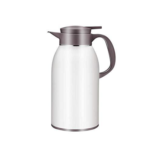 Miao. 304 roestvrijstalen koffie thermoskan - 2.2L dubbelzijdig geïsoleerd vacuüm Thermal voor koffie of thee, wit