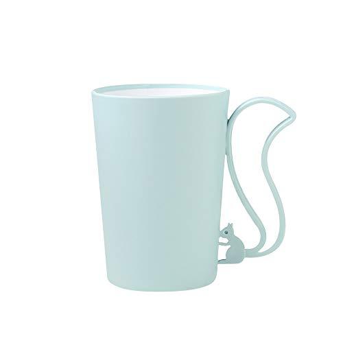 XVXFZEG Cepillo de dientes de ardilla Copa en dos colores con dibujos animados taza plástica del cepillo de baño Tumbler, prima de plástico multicolor Copas irrompible DRINK de agua, café, leche, zumo