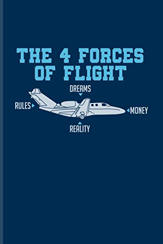 The 4 Forces Of Flight Dreams Rules Money Reality: Pilot Physics Undated Planner | Weekly & Monthly No Year Pocket Calendar | Medium 6x9 Softcover | For Flight Instructors & Aviators Fans