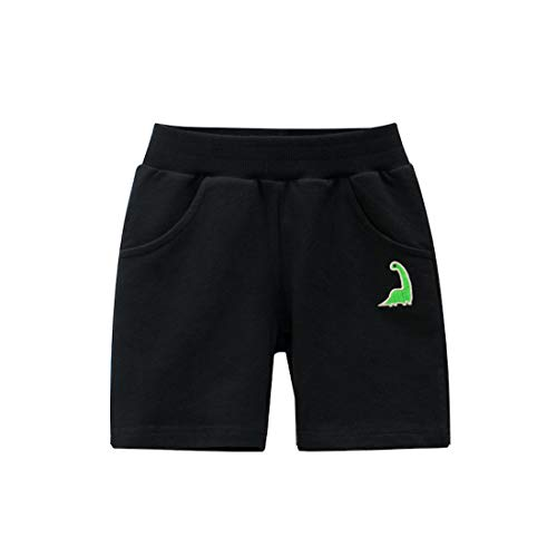 Cicilin Jungen Baby Kinder Shorts Sportshorts 100% Baumwolle Weich Freizeit Outdoors Schwarz 92-98