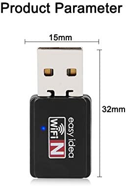 1Pcs Mini USB WiFi Adapter 150Mbps 10Db Antenna Network LAN Card PC Wi-Fi Receiver Wireless Portable