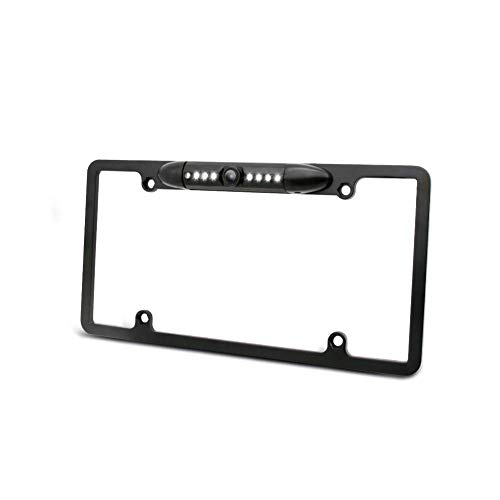 Car License Plate Frame Backup Camera,Rear View Camera 170 Degree Viewing Angle 7 Bright IR Night Vision Lights,IP67 Waterproof Reverse Camera for Car-Parking Assistant