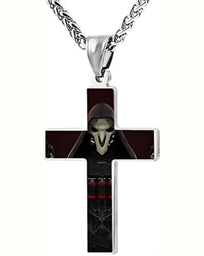 3D Necklaces 3D Pendants Overwatch Unisex-Adulte Sobresaliente Collar de la cruz exquisitamente Cross Pendant Torque para los hombres Mujeres Exquisitos Accesorios de la Cruz Unisex Decoraciones cruza