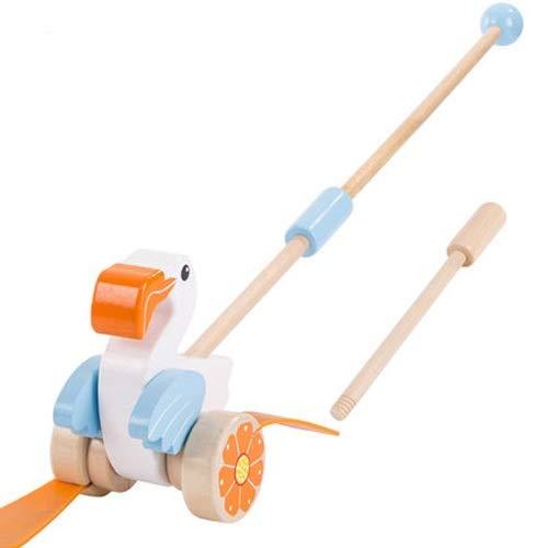 Lihgfw 0-3 Jahre alt Baby Kinder Push Schubstange Kleinkind Einstab Wagen aus Holz Spielzeug Qualität Schubstange sicher und Spaß nur for das Baby zu Fuß glücklich zu Sein