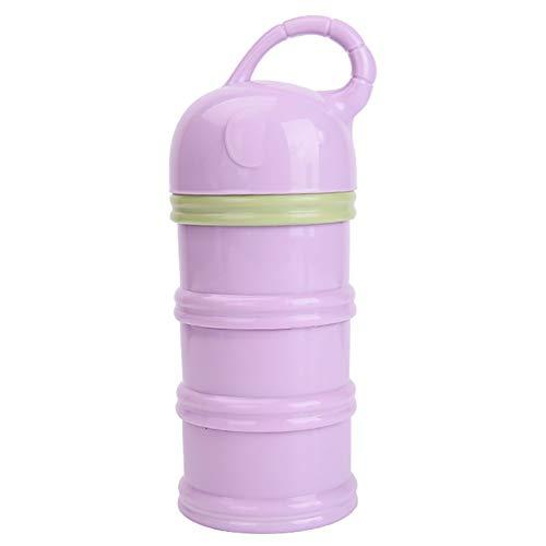 Formule Dispenser, Portable Amovible en Forme d'entonnoir Poudre de Lait Boîtes à Spirale Non-dérapant, épaissie Mur, Mini Alimentaire Boîte de Rangement pour bébé Nighttime - (3-Layer),Purple(Light)