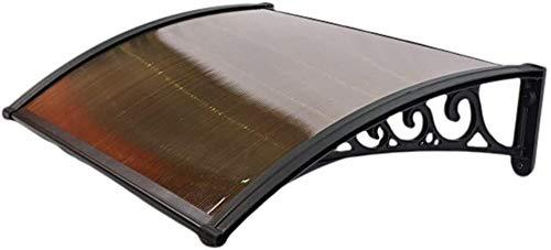 QIANMEI Tettoia Esterna pensilina da Esterno Porta parapioggia Tenda Resistente ai Raggi UV in policarbonato Telo Impermeabile Parasole, for Giardino