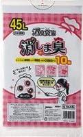 【お買得】ジャパックス消臭用 ポリ袋 45L 白半透明 0.020mm 600枚 10枚×60冊入 STK45 消臭袋 防臭袋