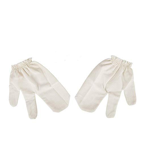 Garshan Seidenhandschuhe als leichte, luxuriöse Alternative zur Trockenbürste - für Ayurveda Massage - Ideales Geschenk der reinen Haut & Bekämpfung von Cellulite
