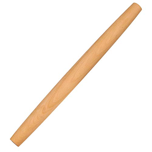 Rolling Pin - Dough Roller Wood Rolling Pin for Baking, 16 Inch by 1-3/8 Inch, Professional French Rolling Pins for Baking Pizza, Clay, Pasta, Cookies, Dumpling