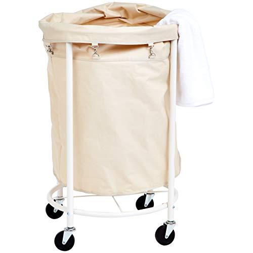 Amazon Basics - Kommerzieller Wäschekorb mit herausnehmbarem Einsatz und Rollen