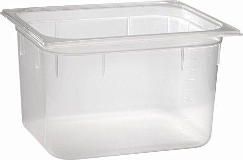 APS 82117 GN 1/2 Polypropylen transparenter Behälter mit Liter-Skala, 32, 5 x 26, 5 x 20 cm 11.8 ltr.