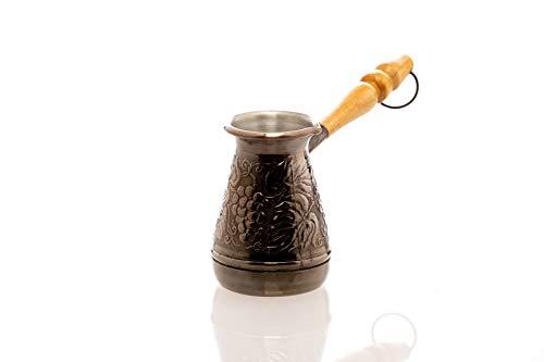Kupfer Kaffeekanne Cezve Ibrik Kaffeekocher Weinrebe Orientalischen Türkischen Griechischen Kaffeegetränks Volumen 120 ml