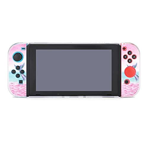 Coque pour Nintendo Switch queue de sirène 5 pièces housse de protection compatible avec console de jeu Nintendo Switch