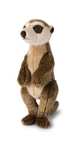 WWF WWF00838 Plüsch Erdmännchen, realistisch gestaltetes Plüschtier, ca. 30 cm groß und wunderbar weich