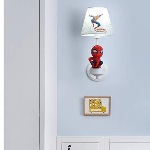 Batman Lampe Murale Lampe Murale créative LED Mur Mode Cartoon Enfants Salle de Jeux pour la Lampe Murale Spiderman Lampes garçon E14 Chambre Lampe de Chevet 41cm * 25cm * 17cm,6000k
