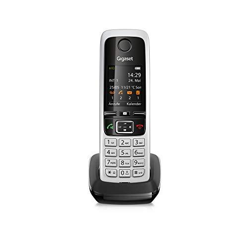 Gigaset C430HX Universal-Mobilteil - Schnurloses IP-Telefon (zum Anschluss an Router oder Basisstationen - klassisches Mobilteil mit Farbdisplay und HD-Voice) schwarz-silber