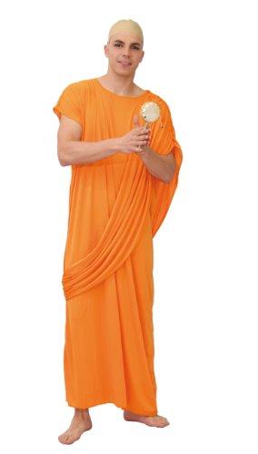 Guirca- Costume da Monaco Buddista, Colore Arancione, Taglia 48/52, 80200