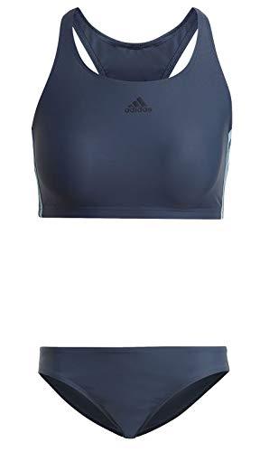 adidas Fit 2 Stück, 3s Badeanzug für Damen, Damen, Bikini, GM3926, Blau (Azmatr/Azubru), 46
