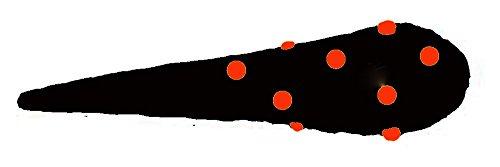 clown republic Gourdin prehistorique Gonflable Noir et Rouge Accessoires de Deguisement