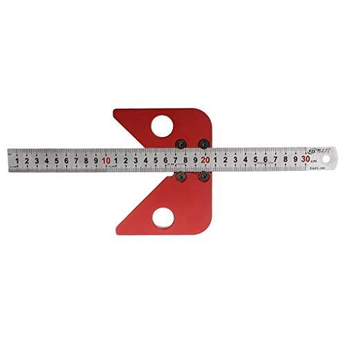 Lopbinte Gramil de 45 Grados Calibre Regla de Dibujo de Línea de Centro Redonda Herramientas de Dise?o de Carpintería
