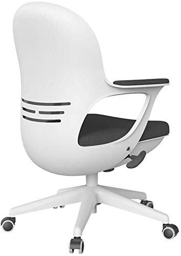 THBEIBEI Silla de oficina giratoria silla de juego silla de ordenador oficina oficina oficina oficina silla estudiante malla transpirable cojín grueso peso 200kg blanco