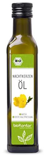 Bio Nachtkerzenöl 250ml nativ und kaltgepresst I 100{7791c97484153dbf20081338cab0029e7bf09c37663b6702ad85b0a9e2a55255} rein von bioKontor