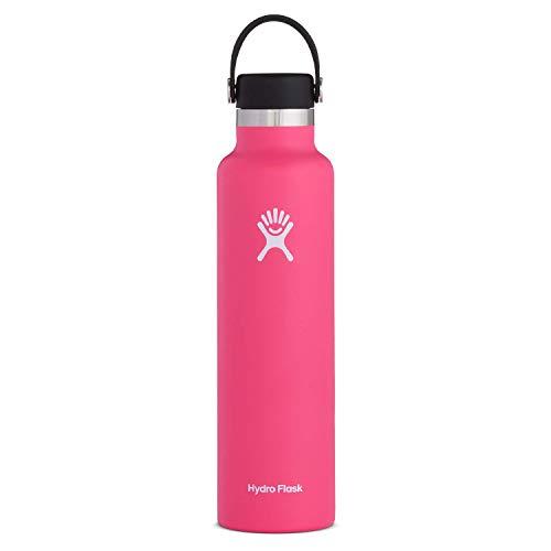 Hydro Flask Trinkflasche 709ml (24oz), Edelstahl und vakuumisoliert, Standard-Öffnung mit auslaufsicherer Flex Cap, Watermelon