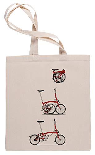 Ich Liebe Meine Klapp- Brompton Fahrrad Einkaufstasche Tote Beige Shopping Bag