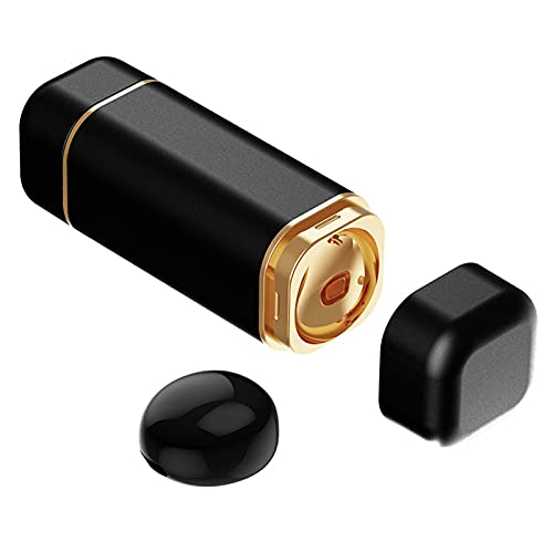 MagiDeal Auricular Individual, Auricular Bluetooth Más Pequeño, Auricular Bluetooth Invisible, con Micrófono, Auricular Inalámbrico Manos Libres de de - Negro